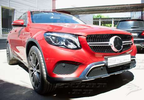 Решетка радиатора Diamond Sport Mercedes GLC Coupe C253 серебро