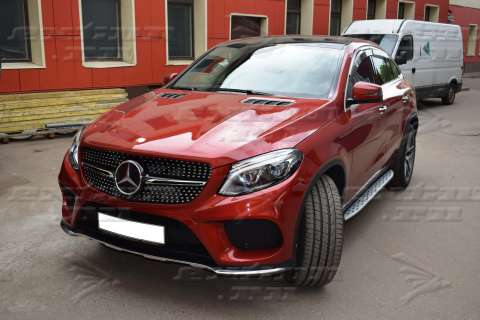 Решетка радиатора Diamond Sport на Mercedes GLE Coupe C292 черная